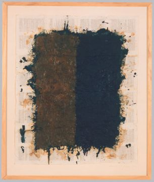 Extrait de série : Encres et pigments sur papier bible 87x102 cm 20/01/93
