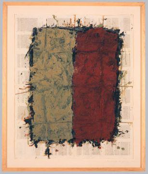 Extrait de série : Encres et pigments sur papier bible 87x102 cm 15/01/93