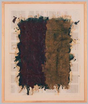 Extrait de série : Encres et pigments sur papier bible 87x102 cm 18/01/93