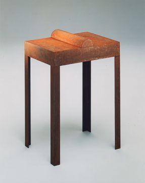 Sculpture objet. Métal soudé, acide, rouille, 140 x 30 x 50 cm. 1993