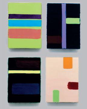 Extrait de série : Encaustique sur toile marouflée sur bois chaque 16 x 22 x 3 cm, 2000