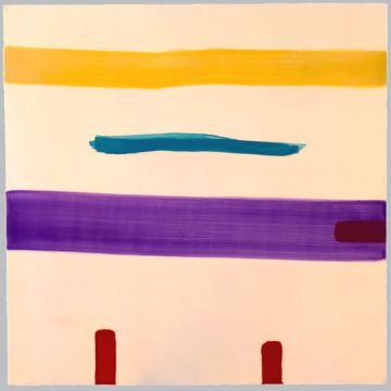 Extrait de série : Encaustique sur toile marouflée sur bois 90/90/5 cm, 1998