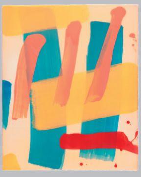 Extrait de série : Encaustique sur toile marouflée sur bois 46/38/5 cm, 1997