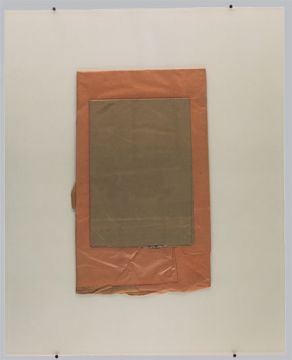 Extrait de série : collages + plaque de verre 80x100 cm 19/06/1989