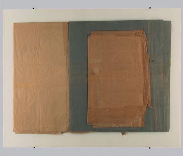 Extrait de série : collages + plaque de verre 80x100 cm 15/12/1989