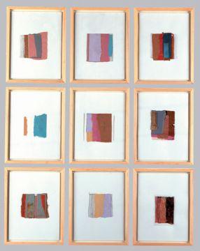 Extrait de série : collages papiers sur papier 9 x 20 x 25 cm janv/fev/mars 1990