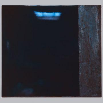 émail sur metal 80X74X3cm bleu Pierre