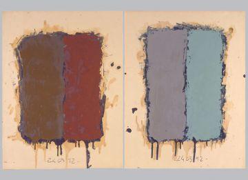 Extrait de série : Encres et pigments sur papier 101x65 cm 24/03/92