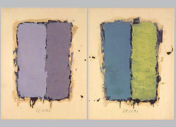 Extrait de série : Encres et pigments sur papier 101x65 cm 22/11/91