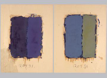 Extrait de série : Encres et pigments sur papier 101x65 cm 17/09/91