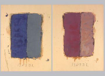 Extrait de série : Encres et pigments sur papier 101x65 cm 13/09/91