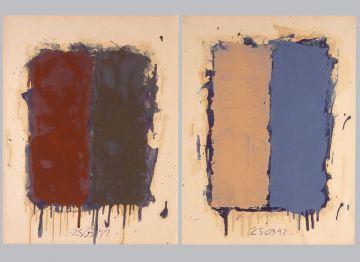 Extrait de série : Encres et pigments sur papier 101x65 cm 25/03/92