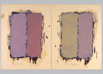 Extrait de série : Encres et pigments sur papier 101x65 cm 23/11/91