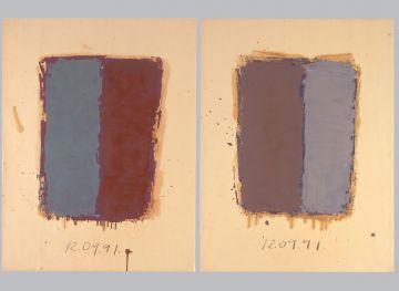 Extrait de série : Encres et pigments sur papier 101x65 cm 12/09/91
