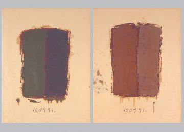 Extrait de série : Encres et pigments sur papier 101x65 cm 10/09/91