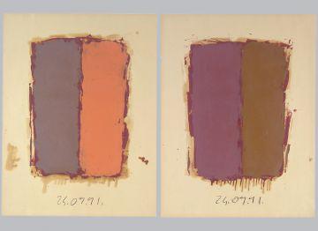 Extrait de série : Encres et pigments sur papier 101x65 cm 24/09/91