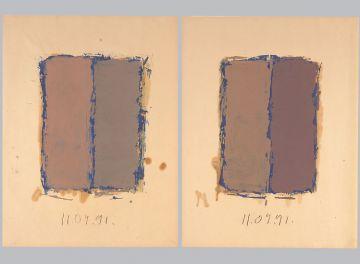 Extrait de série : Encres et pigments sur papier 101x65 cm 11/09/91