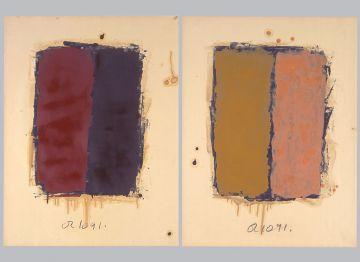 Extrait de série : Encres et pigments sur papier 101x65 cm 2/10/91