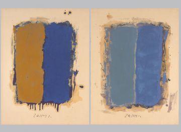 Extrait de série : Encres et pigments sur papier 101x65 cm 26/11/91